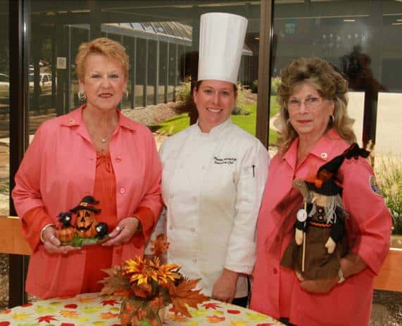 Preparing for the Auxiliary's Apple/Fall Festival: From left to right: Auxilian Kay Blair; MVH Executive Chef Phoebe Seiverling; and Auxiliary President Ruth Antonelli.